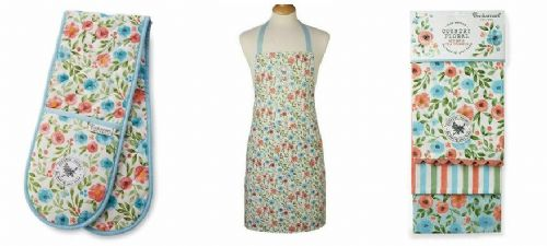 Cooksmart Country Floral, Oven Glove, Tea Towels Or Apron